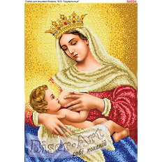 изображение: икона Божья Матерь Млекопитательница для вышивки бисером или нитками