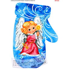 фото: новогодняя рукавичка для вышивки бисером или крестиком, Ангел