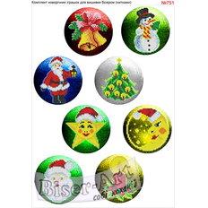 фото: новогодние игрушки для вышивки бисером или крестиком