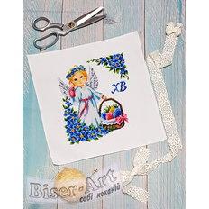 фото: детский пасхальный рушник для вышивания бисером или крестиком