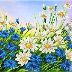 фото: схема для вышивки бисером или крестиком, Полевые цветы
