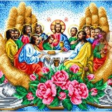 изображение: икона Тайная Вечеря для вышивки бисером или нитками