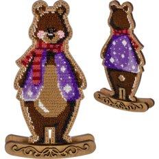 фото: набор для вышивки бисером по дереву, Качалка Медведь