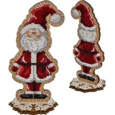 фото: набор для вышивки бисером по дереву, Санта Клаус