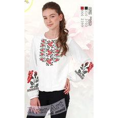 фото: вышитая бисером и сшитая из заготовки блузка для девочки