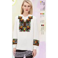 фото: белая блуза (заготовка) с вышивкой богатый цветной узор