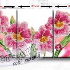 фото: схема модульной картины для вышивки бисером или нитками, Орхидеи
