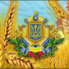 фото: схема для вышивки бисером или нитками, Символика Украины