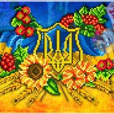 фото: схема для вышивки бисером или нитками, Украина