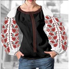 фото: блуза Бохо (заготовка) с вышивкой калина, желуди и листья дуба