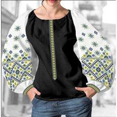 фото: блуза Бохо (заготовка) с вышивкой геометрический узор с ромбами