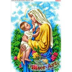 фото: схема для вышивки бисером или крестиком, Мать и дитя
