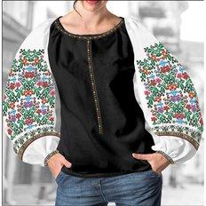 фото: блуза Бохо (заготовка) с вышивкой цветной узор с цветами