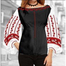 фото: блуза Бохо (заготовка) с вышивкой цветы и узоры