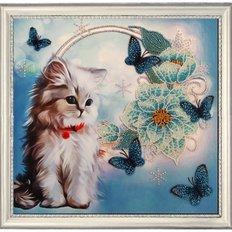 фото: картина для вышивки бисером, котенок