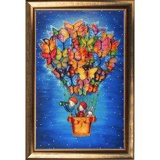 фото: картина для вышивки бисером, На воздушном шаре
