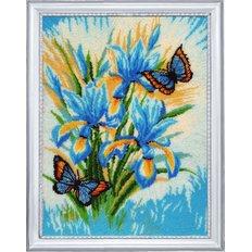 фото: картина для вышивки бисером Небесные цветы