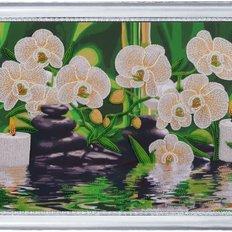 фото: картина для вышивки бисером, орхидеи