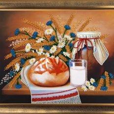 фото: картина для вышивки бисером натюрморт с караваем