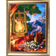 фото: картина для вышивки бисером Вечерний кофе