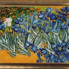 фото: картина для вышивки бисером Полевые ирисы (по мотивам В. Ван Гога)