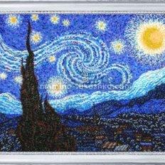 Набор для вышивки бисером Звездная ночь (по картине В. Ван Гога)