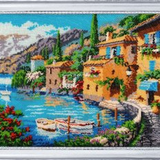 фото: картина для вышивки бисером Итальянская деревушка