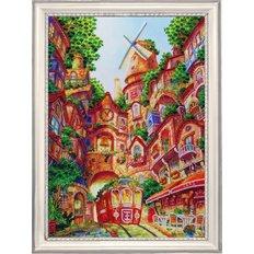 фото: картина для вышивки бисером Трамвайчик
