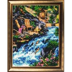 фото: картина для вышивки бисером Водопад