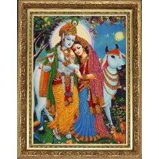 фото: картина для вышивки бисером Кришна с флейтой
