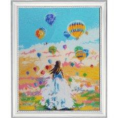 фото картина для вышивки бисером воздушные шары