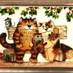 Набор для вышивки бисером Семейство кошачьих