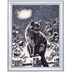 фото: картина для вышивки бисером Лунный кот
