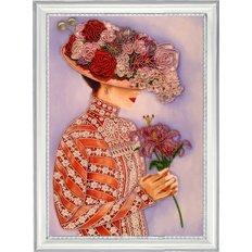 фото: картина для вышивки бисером Дама с лилиями