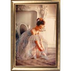 фото: картина для вышивки бисером Балеринка