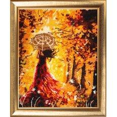 фото: картина для вышивки бисером Прогулка в лесу