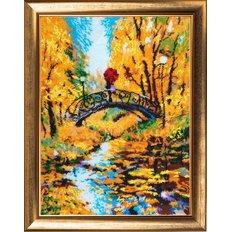 фото: картина для вышивки бисером Осенний мостик