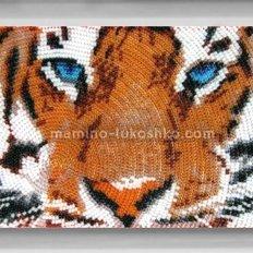 Схема для вышивки бисером Глаза тигра