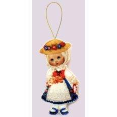 Игрушка из фетра Кукла. Германия