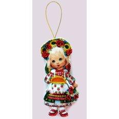 Набор для создания игрушки из фетра Кукла. Украина
