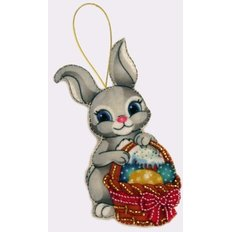 Набор для создания игрушки из фетра Пасхальный зайчик