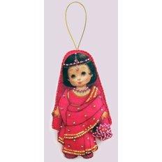 Набор для создания игрушки из фетра Кукла. Индия
