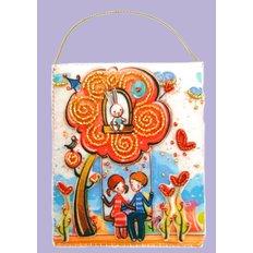 фото: подарочный конверт, вышитый бисером Для любимых