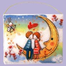 фото: подарочный конверт, вышитый бисером Любимым