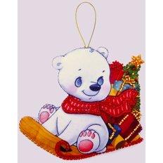 Игрушка из фетра Белый медвежонок