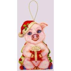 Фото: игрушка из фетра поросенок, символ года