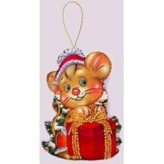 фото: игрушка из фетра мышонок, новогодняя игрушка