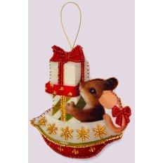 фото: игрушка из фетра мышонок