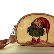 фото: сумка для вышивки бисером Совушка в шапочке