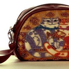 фото: сумка для вышивки бисером Кошачья идиллия